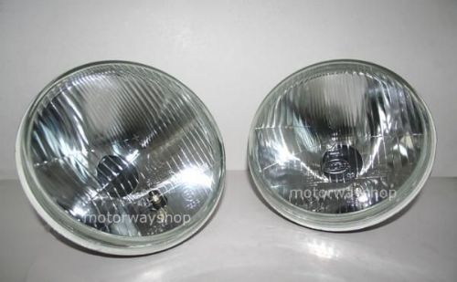 "7"" Inch Pair Sealed Beam Headlights Halogen Conversion"